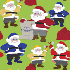 Santa Claus. Christmas seamless pattern