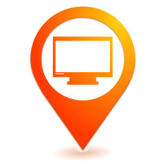 télévision sur symbole localisation orange