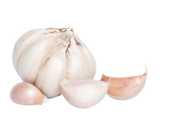 Garlic isolated with clipping path