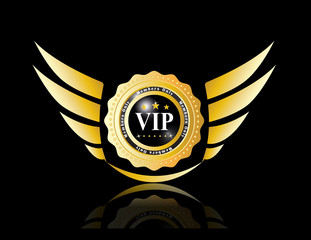 vip badges with wing