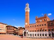 Piazza del Campo in the historic city of Siena, Tuscany, Italy