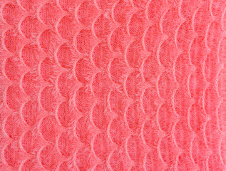 texture of  fish scale fabric striped