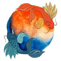 Акварельные рыбки