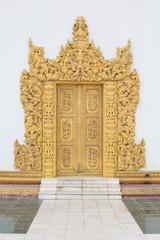 door of Atum Ash Kyaung temple