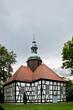 canvas print picture - Historische Kreuzkirche Krausnick