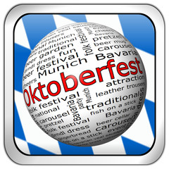 Oktoberfest Wordcloud Button