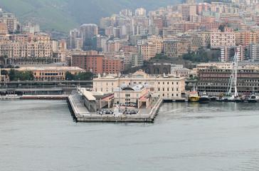 Cruise terminal and city. Genoa, Italy