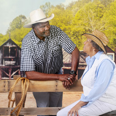 Mature Cowboy Flirting