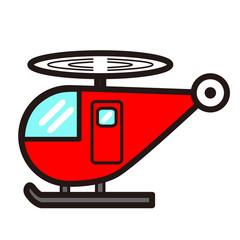ポップでかわいいヘリコプター(赤色)
