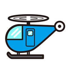 ポップでかわいいヘリコプター(黄色)