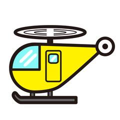 ポップでかわいいヘリコプター(青色)