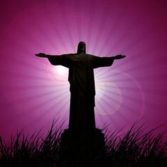 jesus christ  statue with sky  background