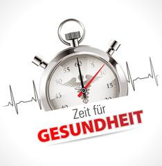 Stoppuhr - Zeit für Gesundheit