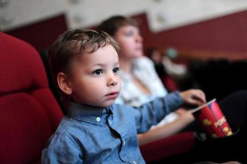 Boy has popcorn