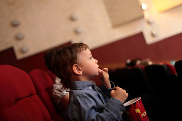 Child in the cinema