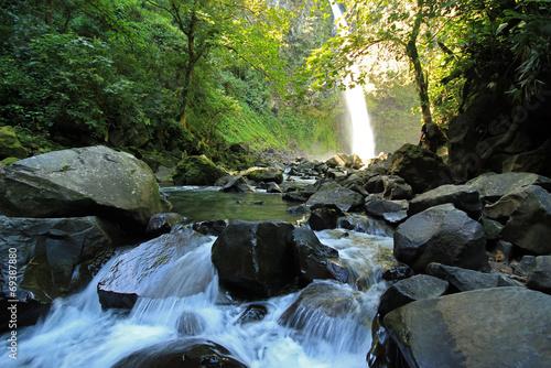 Fotobehang Centraal-Amerika Landen Rapids at La Fortuna Waterfall, Alajuela Province, Costa Rica
