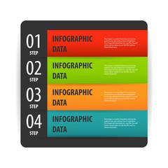 Simple modern infographics options banner box.