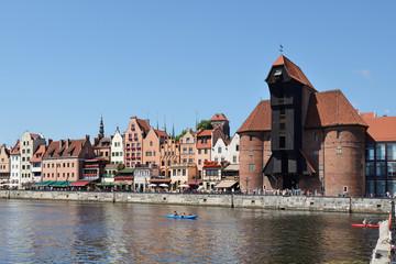 Żuraw Gdański nad Motławą
