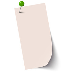 empty paper with pin