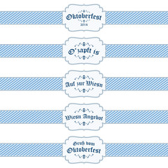 5 different Oktoberfest 2014 banners