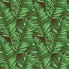 Seamless floral vector pattern inspired by leaves of tropical