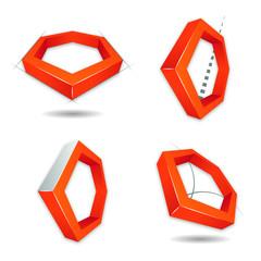 Hexágono 3D, logo para empresa