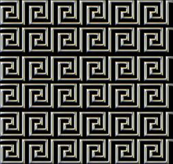 repeating maze like design metal tube