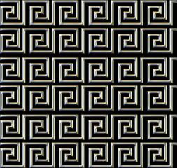 repeating maze like design metal tube