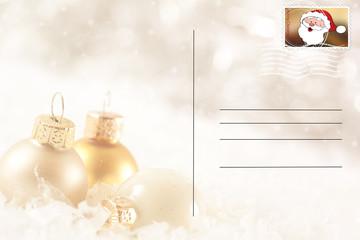 Weihnachtliche Postkarte ©yvonneweis