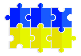 yellow-and-blue-puzzles-in-the-form-of-a-flag-of-Ukraine