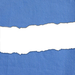 Blue fabric stripes with white text space