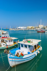 Fishing Boats in Heraklion, Crete, Greece