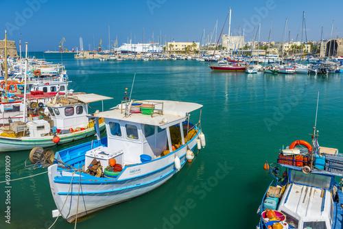 Aluminium Poort Fishing Boats in Heraklion, Crete, Greece