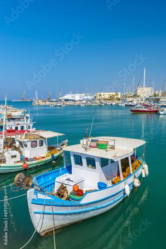 Aluminium Fishing Boats in Heraklion, Crete, Greece