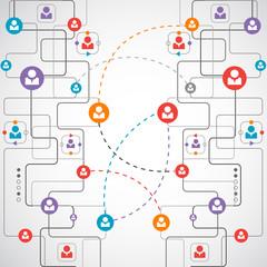Network concept / Social media