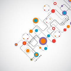 Abstract technplogy background/ Network concept