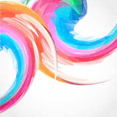 Abstract color swirl background