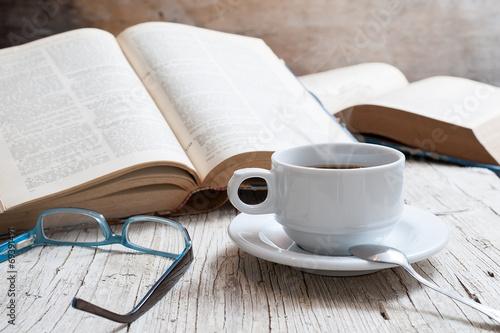 Foto op Plexiglas Cafe taza de café
