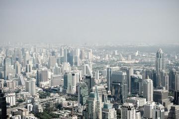 Thailand bangkok view from Baiyoke Tower on 29 march 2013