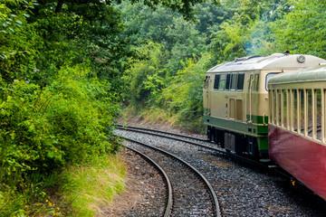 Vulkan-Express auf der Strecke