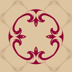 Seamless damask pattern, vector ornate background
