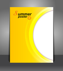 Summer Stylish presentation of business poster