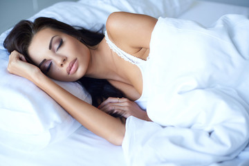 Young woman enjoying a restful nights sleep