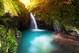 Fototapety Paradise waterfall in the jungle of Thailand
