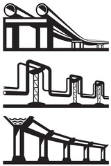 Industrial lines set - vector illustration