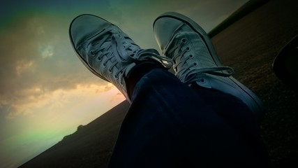 Sonnenuntergang in Sneakers art