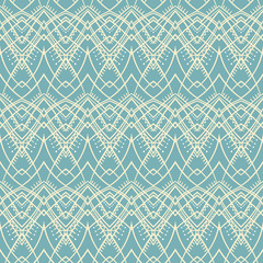 blue and beige tribal pattern