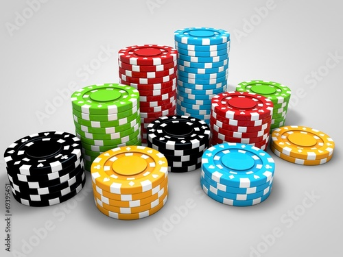 canvas print picture Poker chips