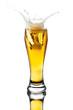 splash beer in glass