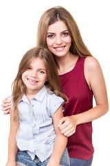 Girls posing to camera